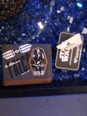 New Disney Star Wars SOLO Wallet by Loungefly Faux Leather