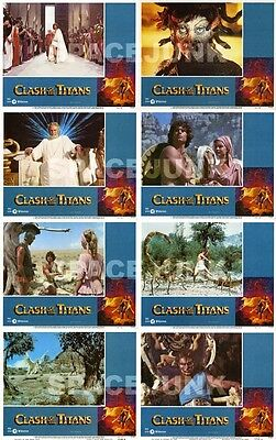 CLASH OF THE TITANS (1980) Complete Set of 8