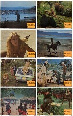 Sheena Lobby Cards (1985) Complete Set of 8