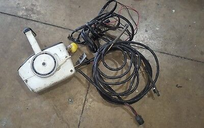 Evinrude Johnson outboard motor forward control box 3.2 meter cables