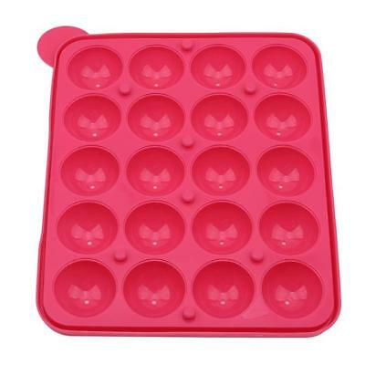 20 Round Shape Silicone Lollipop Mould Tray Candy Chocolate Lollypop Mold CB