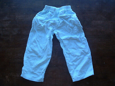 Corduroy cord light blue trousers pants size 4 EUC