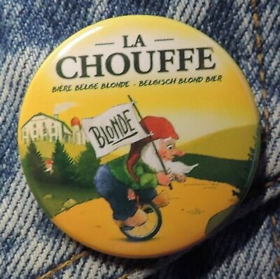 Pin Button Badge Ø38mm  La chouffe bière Blonde ( 4 )