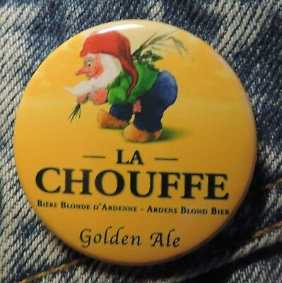 Pin Button Badge Ø38mm  La chouffe Golden Ale ( 6 )
