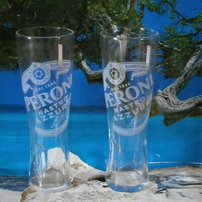 Peroni Pint Glasses (Set of 2) .
