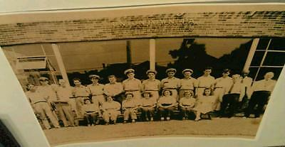 1940's Uniontown Pa. Coca-Cola Bottling Workers & Drivers In Uniform Poster Repo