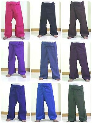 Thai Fisherman Pants YOGA Long Cotton Wrap For Men & Women Muti colors Free Size