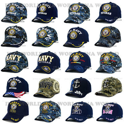 17ba18228d117 U.S. NAVY hat Military NAVY Logo Embroidered Official Licensed Baseball cap