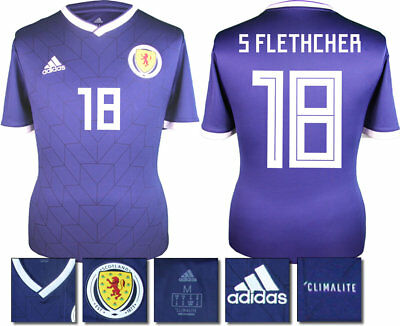 S Fletcher 18 - Scotland Home 2018 Adidas Shirt Ss = Adults