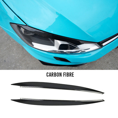 VW Golf - 3D CARBON FIBRE Headlights Tint Eyebrow / Lid (MK7 R Volkswagen 400)