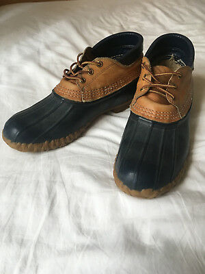 Vintage Women's Size 9 Maine Hunting Boots Duck Boot Low Ankle LL Bean