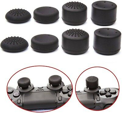 8pcs Black Silicone Thumb Stick Grip Cover For PS4 & Xbox One Controller USA