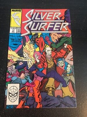 Silver Surfer#11 Incredible Condition 9.2(1988) Nova App, Rogers Art!!