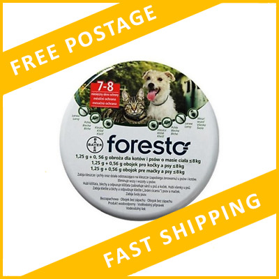 Bayer Seresto/Foresto Flea&Tick Collar For Small Dogs & Cats Up To 18lbs (8kg)