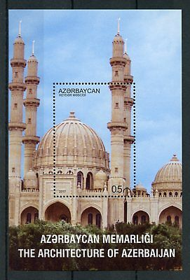 Azerbaijan 2017 MNH Architecture Heydar Mosque 1v S/S VII Mosques Tourism Stamps