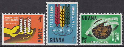 GHANA - 1963 Freedom from Hunger (3v) - UM / MNH