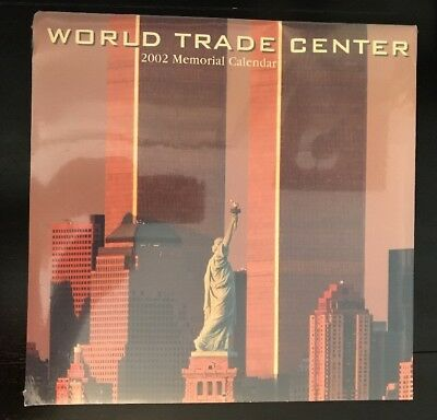 World Trade Center ~ 2002 Memorial Calendar ~ Brand-New ~ Sealed