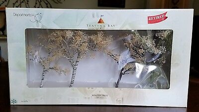 """DEPT 56 SEASONS BAY: """"WINTER TREES"""" (Set of 4) - #53384 - EXCELLENT CONDITION"""