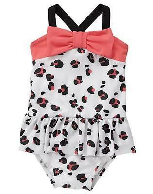 NWT Gymboree Kitty in Pink Leopard Swimsuit Swim shop Toddler Girls