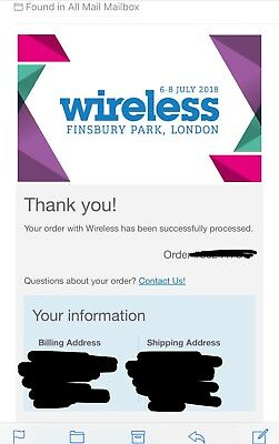 Wireless 2018 ticket, Friday + Saturday