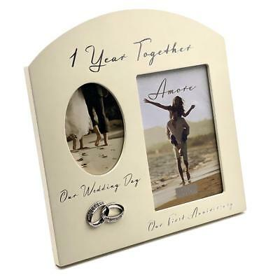 FIRST WEDDING Anniversary Multi Photo Picture Frame WG979 - £13.99 ...