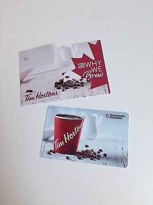 TIM HORTONS Gift Card ZERO $ BALANCE, WHY WE BREW w/Holder No Value Collectible