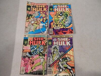 The Savage She-Hulk Lot Of 4 Marvel Bronze Age Comic Book Lot VG/FN