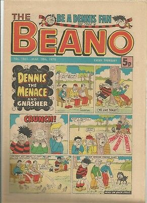 Vintage Beano Comic book from March 1978 #1861