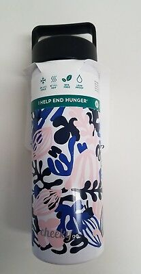 36c87ca462 Cheeky Go Insulated Stainless Steel Water Bottle - Purple/Pink Floral Print  20oz