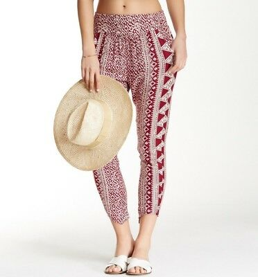 Billabong Women's Keep It Together Printed Pant Red $44 BCH11