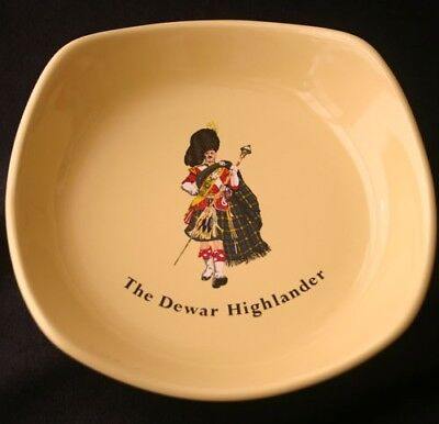 Vintage DEWAR'S White Label Advertising Ashtray Wade