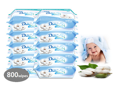 100% cotton baby wipes. Just add water, most safe wet tissue! 80wipes*10pk