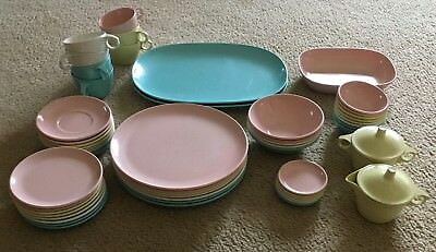 Large 56 Piece Lot Of Imperial Ware Melmac Dinnerware & NEW! MIKASA Antique White Bone Chine 36 Piece Dinnerware Set ...