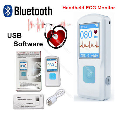 PORTABLE ECG MONITOR FL10/PM10 with Bluetooth, Heart Beat Monitor