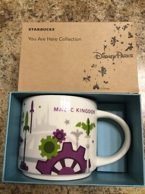 Disney Parks Starbucks You Are Here Tomorrowland MK Coffee Mug Space Mtn New