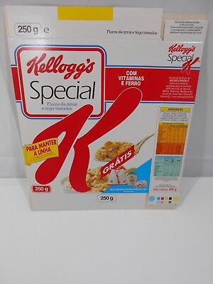 VTG 1992 Cereal Box Flat KELLOGG'S Special K Portugal Palmolive 250g Foreign NOS