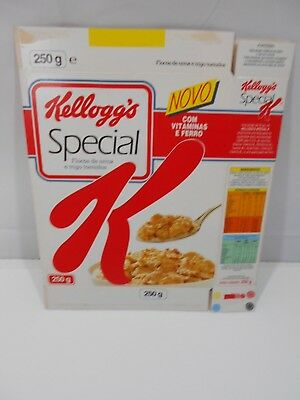 VTG 1992 Cereal Box Flat KELLOGG'S Special K Portugal 250g Foreign Used