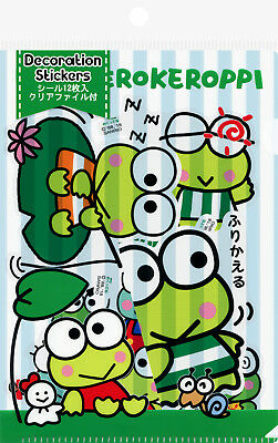 Sanrio Keroppi Decoration/Decal Stickers with File (Frog)
