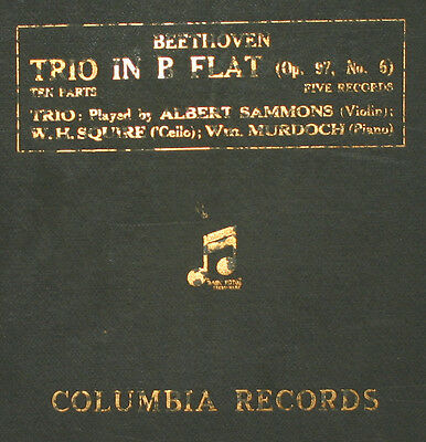 SAMMONS & SQUIRE & MURDOCH Beethoven: Trio in B Flat Op. 97, No. 6  78rpm   A271