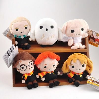 6Pcs/lot Hermione Dobby Hedwig Bean Collectible Plush Toy Kid Doll Birthday Gift