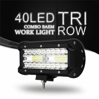 120W CREE 40 LED Work Light Bar Offroad Spot Beam Fog ATV SUV Driving Lamp X1 US