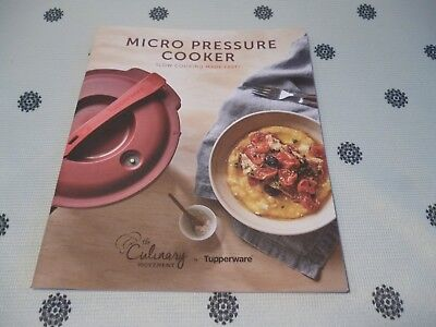 Tupperware Microwave Pressure Cooker Cookbook Recipes New