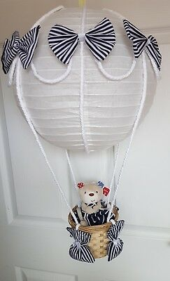 Hot Air Balloon Light Shade with a whale bay comforter   Nursery Baby