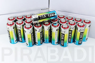 20 Piles Batterie Battery 12V 23A A23 23Ae Mn21 A23S Portail Telecommande Alarme
