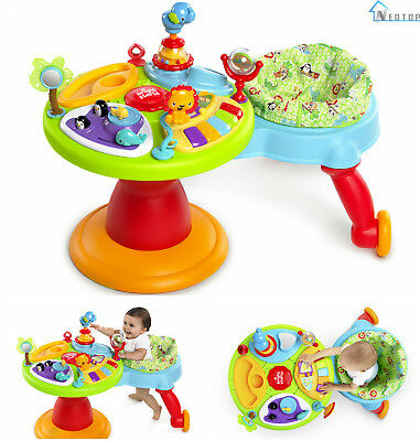 3 In 1 Around We Go Activity Center Baby Toys Playtime Infant Learning Walking