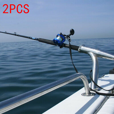 2Pcs 316 Stainless Steel Fishing Rod Holder Outrigger For Marine Yacht Rod Pod
