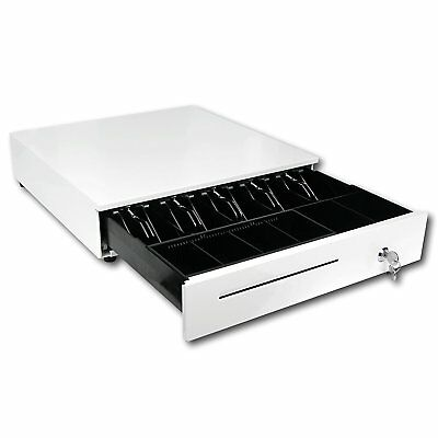 Cash Drawer Tray Register w/ Removable Coin Square Slot Key-Lock for POS System