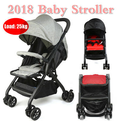 Compact Lightweight Baby Stroller Newborn Pram Easy Fold Travel Carry on Plane