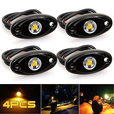 4x LED Rock Lights for JEEP Off Road Truck Underbody Glow Neon Trail Rig Lights