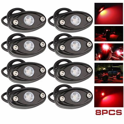 8x LED Rock Lights for JEEP Off Road Truck Underbody Glow Neon Trail Rig Lights